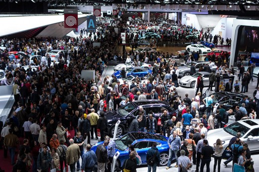 The Paris Motor Show 2012 Can you spot me in the crowd?