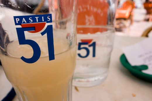 Pastis - a strong flavour of aniseed, diluted with water