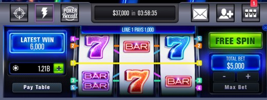 A free slot spin.
