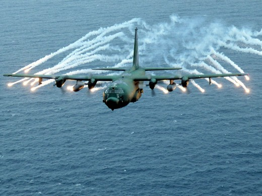 A C-130 Hercules.