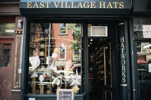 East Village Hats storefront