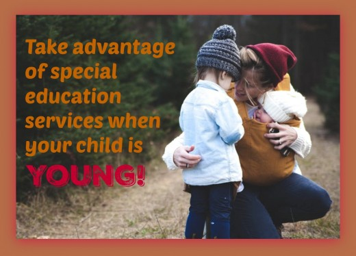 Special education services are plentiful for young children in many states but dry up when kids get older. Take advantage of them now!