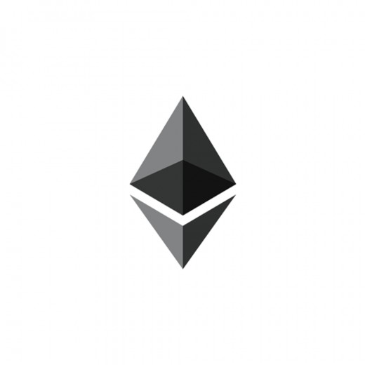 The Ethereum logo.