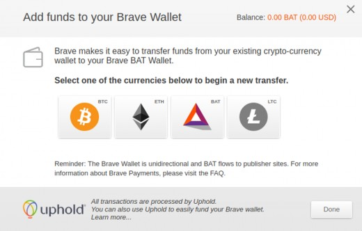 How to buy Basic Attention tokens in Brave.