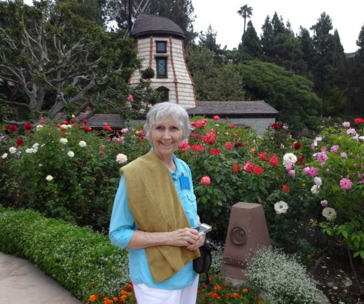 At the Windmill Chapel, SRF Lake Shrine, Los Angeles, CA