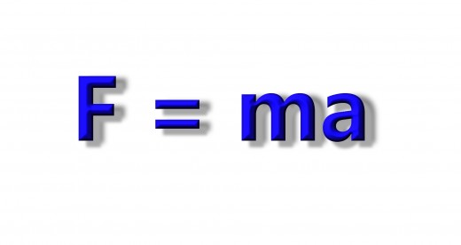 Force = mass multiplied by acceleration