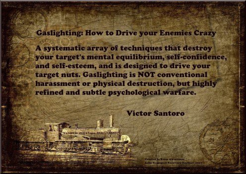 Victor Santoro Gaslighting Quote