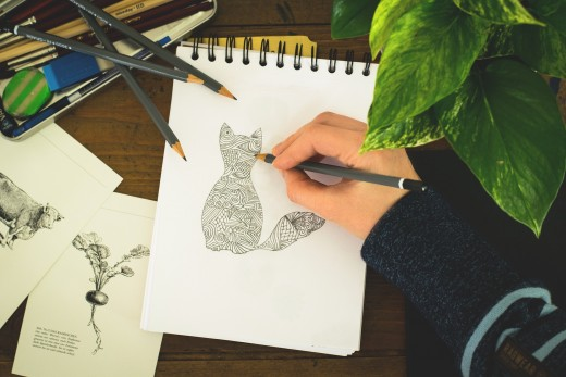 "Writer's often say, ""Just keep the pen moving!"" if you want to succeed. But when you have writer's block, you need to find other fun ways to keep the pen moving. Doodling is a great way to channel your boredom and restlessness when you can't write."