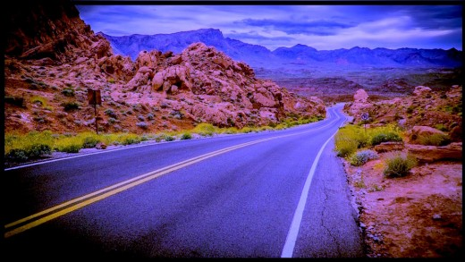 At night Nevada's State Highway 167/169 becomes one of the state's loneliest highways.