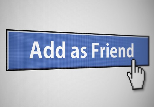 Add As Friend Facebook button