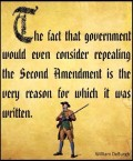 Amendment #2 to the Constitution:  The Right to Bear Arms