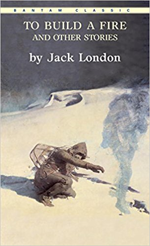 "This is the cover of ""To Build a Fire"" by Jack London. It portrays the man's shortcomings as nature begins to overcome him."