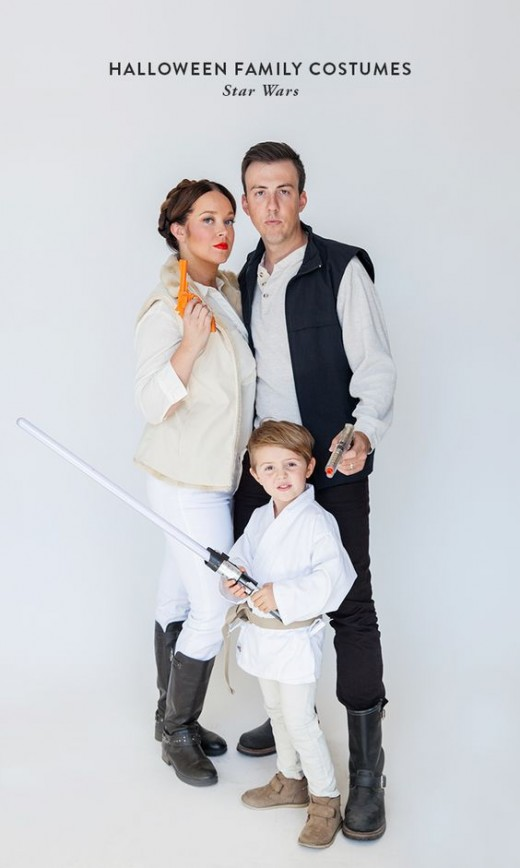 There are tons of DIY last minute Star Wars Costumes