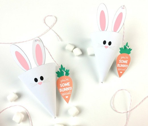 69 simply adorable easter craft ideas feltmagnet paper easter cones negle Choice Image