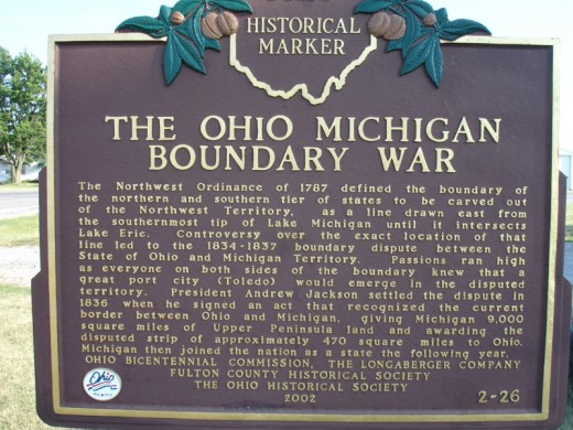 A historical marker commemorates the conflict.