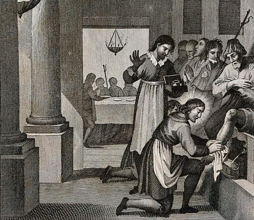 St. Philip ministers to pilgrims.