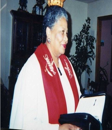 Rev. Margaret Minnicks, Licensed, 1995; Ordained Minister of Christian Education, 1996. BA English and Literature, MA Christian Education, MDiv Theology