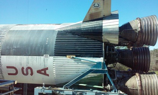 Fiirst Stage of Apollo 19 Saturn V, Infinity Science Center, Pearlington, MS