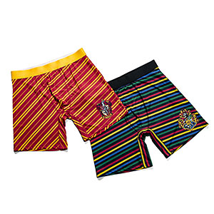 Gryffindor and Hogwarts boxer shorts.