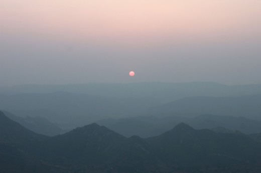 sunset from Sajjangarh palace
