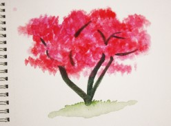 How to Paint a Realistic Cherry Tree With Watercolors Tutorial
