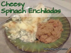 Easy Cheesy Spinach Enchiladas