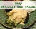 Easy Peasy Steamed Broccoli and Cheese