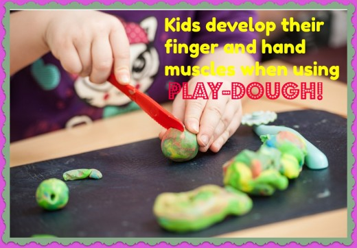 This play-dough recipe is soft and malleable and can be stored it in an air-tight container for weeks.