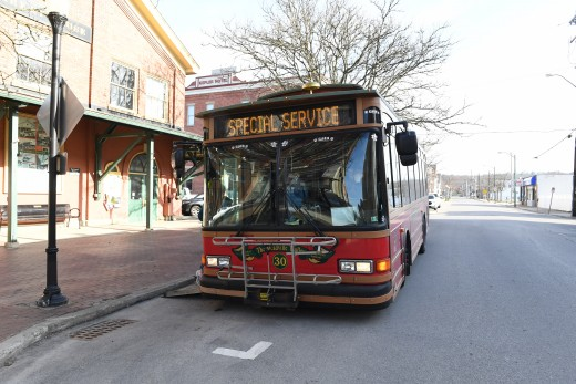 The Cara-bus took people on a Meadville tour.