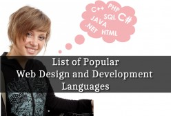 List of Popular Web Design and Development Languages