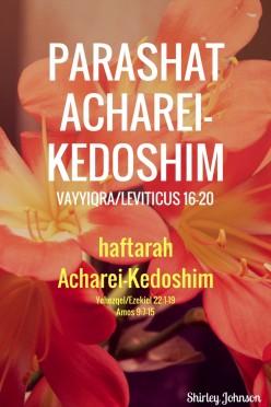 Parashat Acharei-Kedoshim