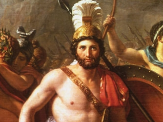 Courtesy of History.com.  King Leonidas of Sparta is an example of a real person who became myth and legend when he lead the defense at the Battle of Thermopylae.