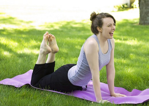 Do a little bit of light exercise to maintain your health during pregnancy.