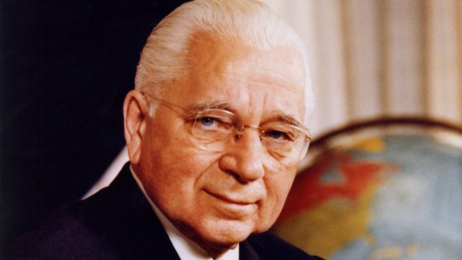 Herbert W. Armstrong, founder of Radio Church of God/Worldwide Church of God, and a famous proponent of the idea that whites are the descendants of the 12 Tribes.