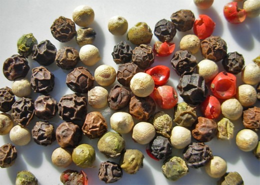 Mixed variety peppercorns