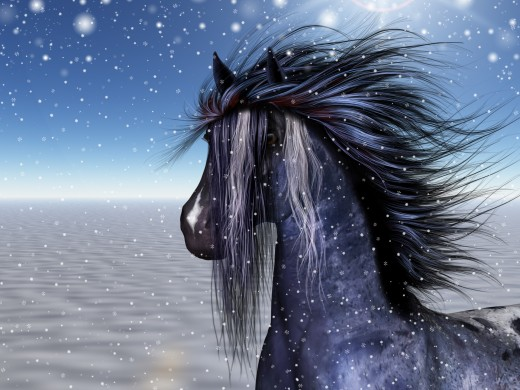 Horses are sacred to Rhiannon, the Welsh Fairy Goddess of Strength.