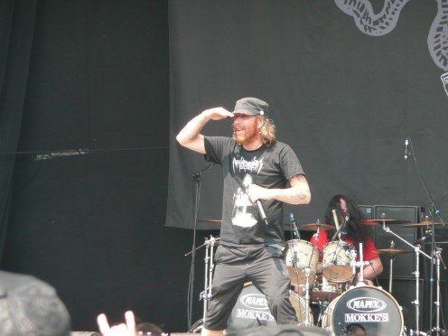 Vocalist Tomas Lindberg seen here LIVE at the Gods of Metal Festival in Bologna, Italy while he was a member of the band called At the Gates.