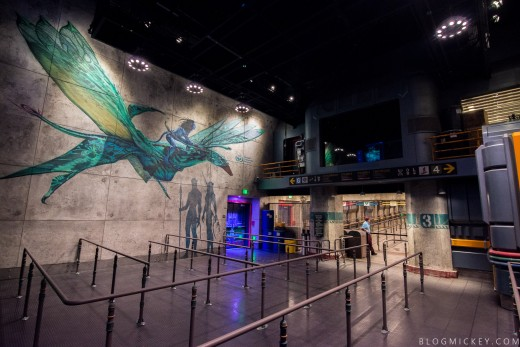 One of the rooms you see while waiting in line for Flight of Passage