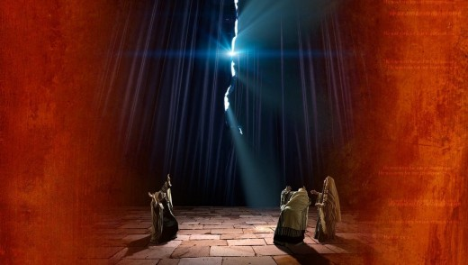 The veil in the temple was rent.