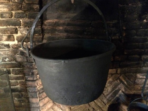 A cauldron was used by common folk and witches alike.