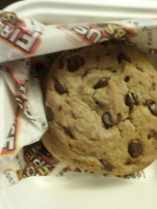 delicious chocolate chip cookie for dessert