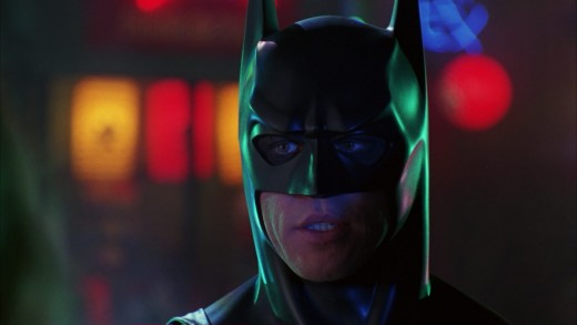 Kilmer is devoid of any emotion whether he's Bruce or Batman, making him a weak hero to cheer for.