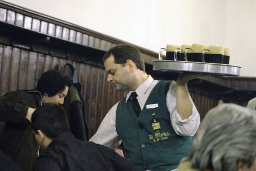 Experienced waiters make attentive waiting-on service seem easy.