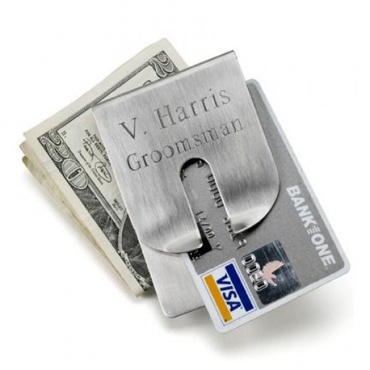 Money clips make superlative personalized gifts for groomsmen