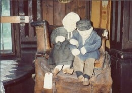These old Grandpa & Grandma cloth dolls date back to the 1800's