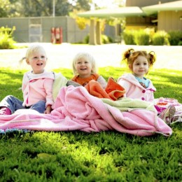 All infants and toddlers love to snuggle on a baby blanket!