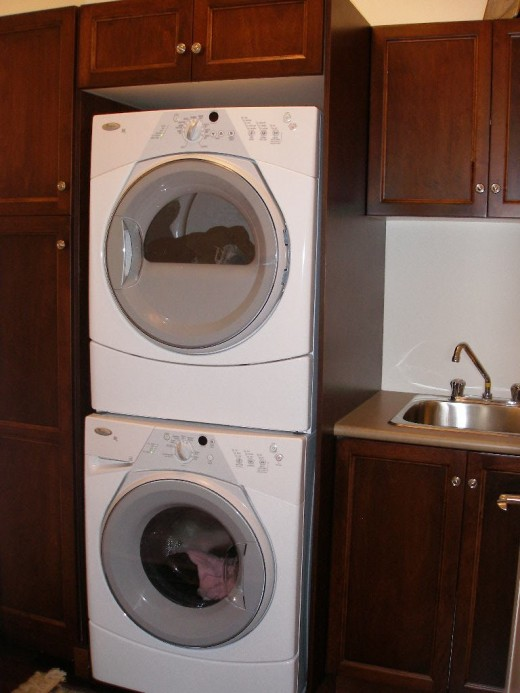 Stacked washer dryers save precious floorspace
