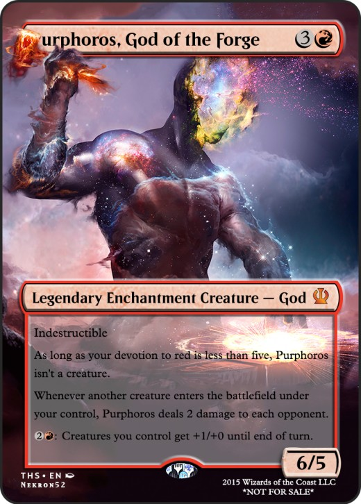Purphoros, God of the Forge alternate artwork