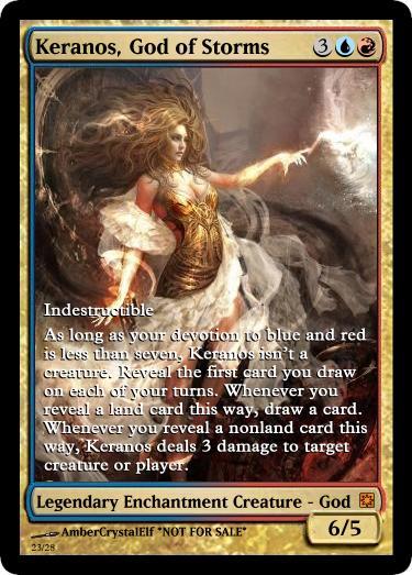 Keranos, God of Storms alternate artwork