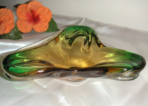 Murano glass was popular in the fifties and sixties used for decoration and as ashtrays.